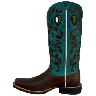 Cowboystiefel Twisted X Womens Ruff Stock türkis