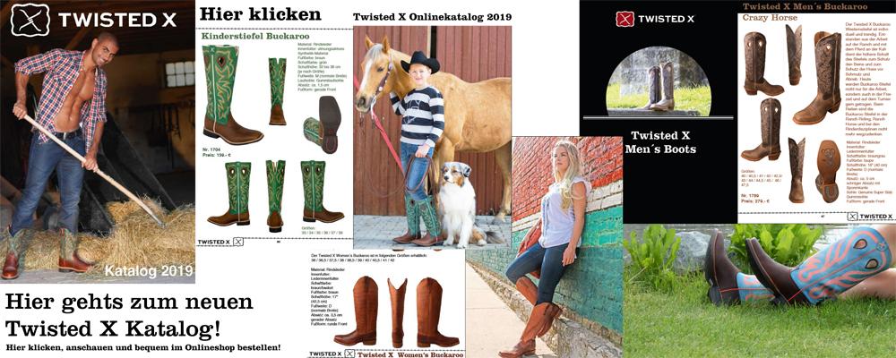 Twisted X Boots Damen Cowboy Stiefel Horseman Westernreitstiefel Lederstiefel
